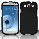 Hard Rubber Feel Plastic Case for Samsung Galaxy S3 III i9300 - Black