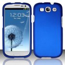 Hard Rubber Feel Plastic Case for Samsung Galaxy S3 III i9300 - Blue