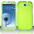 Hard Rubber Feel Plastic Case for Samsung Galaxy S3 III i9300 - Green