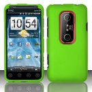 Hard Rubber Feel Plastic Case for HTC EVO 3D (Sprint) - Green