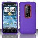 Hard Rubber Feel Plastic Case for HTC EVO 3D (Sprint) - Purple
