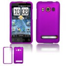 Hard Rubber Feel Plastic Case for HTC EVO 4G (Sprint) - Purple
