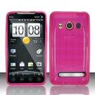 TPU Crystal Gel Case for HTC EVO 4G (Sprint) - Pink