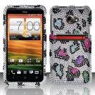 Hard Rhinestone Design Case for HTC EVO 4G LTE (Sprint) - Colorful Leopard