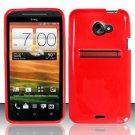 TPU Crystal Gel Case for HTC EVO 4G LTE (Sprint) - Red