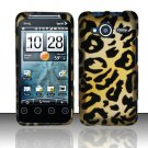 Hard Rubber Feel Design Case for HTC EVO Shift 4G - Cheetah
