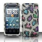 Hard Rhinestone Design Case for HTC EVO Shift 4G - Colorful Leopard