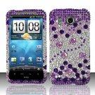 Hard Rhinestone Design Case for HTC Inspire 4G/Desire HD - Purple Gems