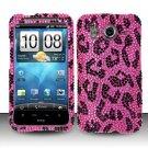 Hard Rhinestone Design Case for HTC Inspire 4G/Desire HD - Pink Leopard
