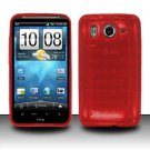 TPU Crystal Gel Case for HTC Inspire 4G/Desire HD - Red