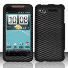 Hard Rubber Feel Design Case for HTC Merge - Carbon Fiber