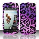 Hard Rubber Feel Design Case for HTC myTouch 4G (T-Mobile) - Purple Cheetah