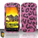 Hard Rhinestone Design case for HTC myTouch 4G (T-Mobile) - Pink Leopard