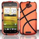 Hard Rubber Feel Design Case for HTC One S (T-Mobile) - Basketball