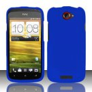 Hard Rubber Feel Plastic Case for HTC One S (T-Mobile) - Blue