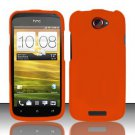 Hard Rubber Feel Plastic Case for HTC One S (T-Mobile) - Orange