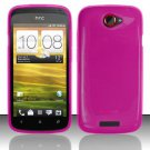 TPU Crystal Gel Case for HTC One S (T-Mobile) - Pink