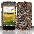 Hard Rhinestone Design Case for HTC One S (T-Mobile) - Cheetah