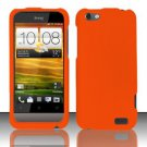 Hard Rubber Feel Plastic Case for HTC One V (Virgin Mobile) - Orange