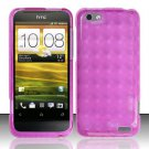 TPU Crystal Gel Case for HTC One V (Virgin Mobile) - Pink