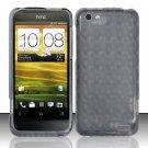 TPU Crystal Gel Case for HTC One V (Virgin Mobile) - Smoke