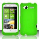 Hard Rubber Feel Plastic Case for HTC Radar 4G (T-Mobile) - Green