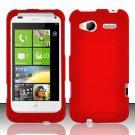 Hard Rubber Feel Plastic Case for HTC Radar 4G (T-Mobile) - Red