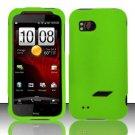 Hard Rubber Feel Plastic Case for HTC Rezound (Verizon) - Green