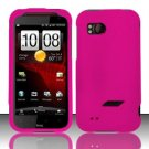 Hard Rubber Feel Plastic Case for HTC Rezound (Verizon) - Pink