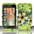 Hard Rubber Feel Design Case for HTC Rhyme (Verizon) - Hawaiian Flowers