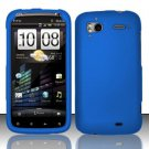 Hard Rubber Feel Plastic Case for HTC Sensation 4G (T-Mobile) - Blue