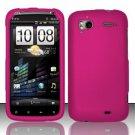 Hard Rubber Feel Plastic Case for HTC Sensation 4G (T-Mobile) - Pink