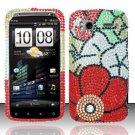 Hard Rhinestone Design Case for HTC Sensation 4G (T-Mobile) - Fall Flowers