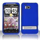 Hard Rubber Feel Plastic Case for HTC ThunderBolt 4G (Verizon) - Blue