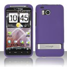 Hard Rubber Feel Plastic Case for HTC ThunderBolt 4G (Verizon) - Purple