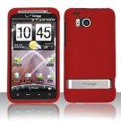 Hard Rubber Feel Plastic Case for HTC ThunderBolt 4G (Verizon) - Red