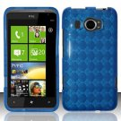 TPU Crystal Gel Case for HTC Titan II (AT&T) - Blue