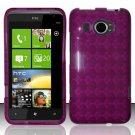 TPU Crystal Gel Case for HTC Titan II (AT&T) - Purple