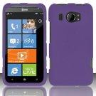 Hard Rubber Feel Plastic Case for HTC Titan II (AT&T) - Purple