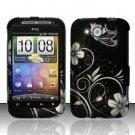 Hard Rubber Feel Design Case for HTC Wildfire S - Midnight Garden