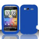 Soft Premium Silicone Case for HTC Wildfire S - Blue