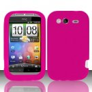 Soft Premium Silicone Case for HTC Wildfire S - Pink