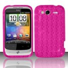 TPU Crystal Gel Case for HTC Wildfire S - Pink