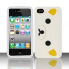 Soft Premium Silicone Case for Apple iPhone 4/4S - White Bear Cartoon