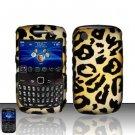 Hard Rubber Feel Design Case for Blackberry Curve 8520/9300 - Cheetah