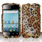 Hard Rhinestone Design Case for Huawei Ascend II M865 - Cheetah