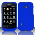 Hard Rubber Feel Plastic Case for Huawei Fusion (AT&T) - Blue