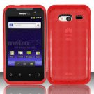 TPU Crystal Gel Case for Huawei Activa 4G - Red