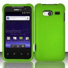 Hard Rubber Feel Plastic Case for Huawei Activa 4G - Green