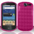 TPU Crystal Gel Case for Huawei Impulse 4G (T-Mobile) - Pink
